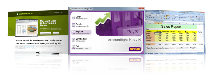 ezylearn learn to use xero myob microsoft excel
