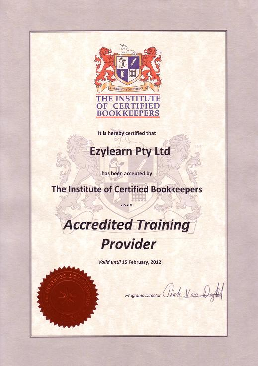 Accredited MYOB Training Course