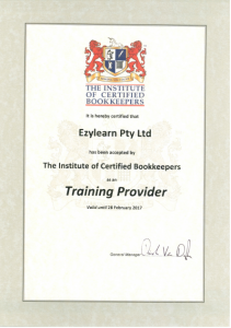 EzyLearn Accredited Training Provider for Institute of Certified Bookkeepers ICB