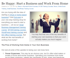 EzyLearn Blog Start a home based business