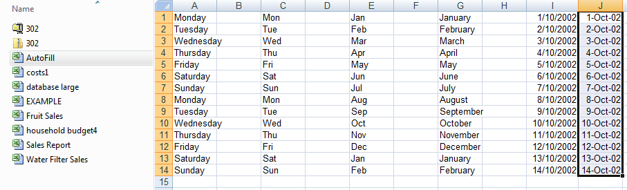 Active cell, selecting, range names, enter and edit, resize columns