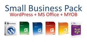 EzyLearn WordPress, MS Office and MYOB Corporate Licence logo